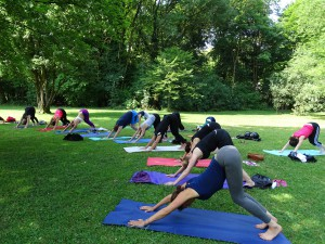 Yoga im Englischen Garten